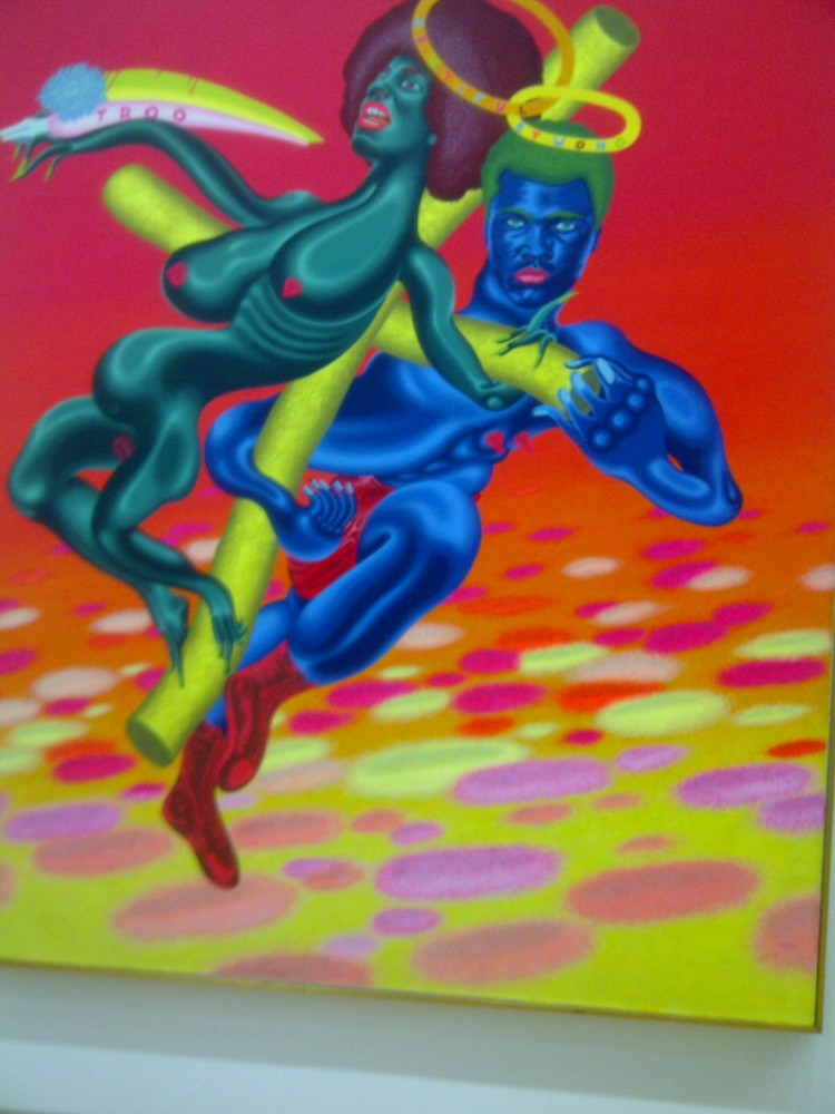 black activist painting at pompidou