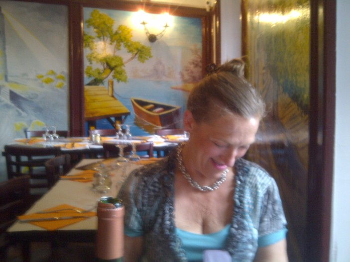 Mum at Le Relais Gascon